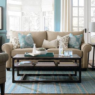 Aqua Living Rooms   Houzz