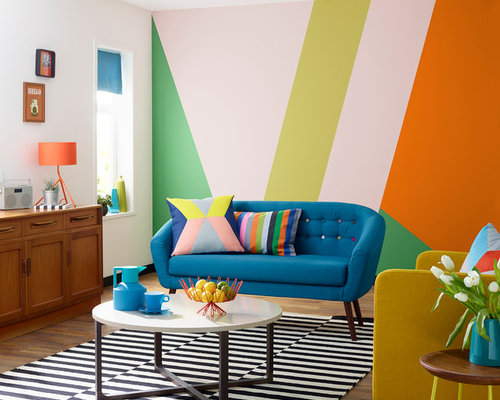 Multi Color Living Room Design Ideas Remodels Photos Houzz