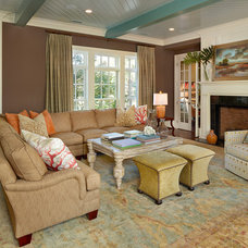 Beach Style Living Room by LORRAINE G VALE, Allied ASID