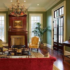 traditional living room by Bill Huey + Associates