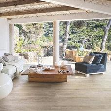 Contemporary Living Room by THE MASONRY CENTER INC