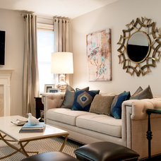 Transitional Living Room by REFINED