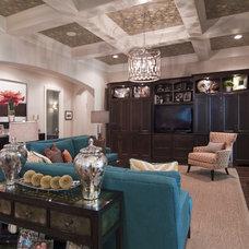 Contemporary Living Room by Carolina Design Associates, LLC