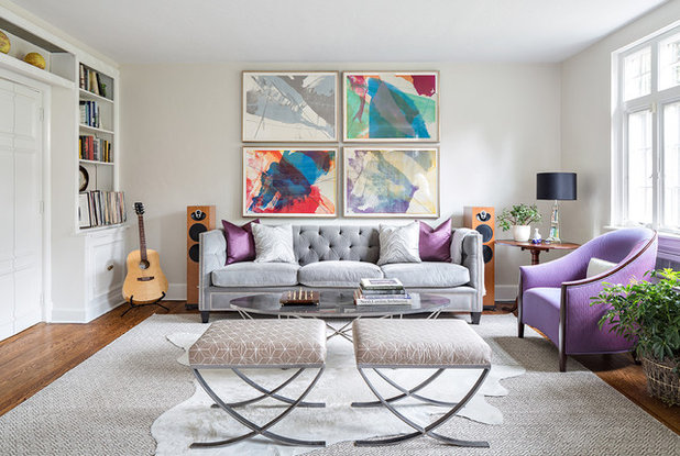 Transitional Living Room by Clean Design