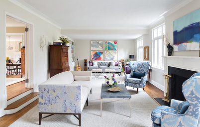 Room of the Day: Two Seating Areas and a Mix of Patterns