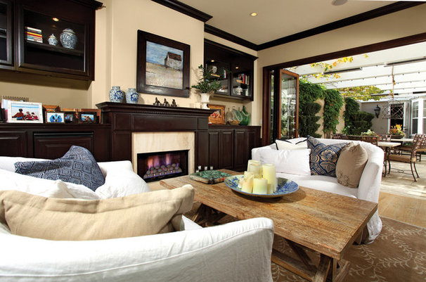 Traditional Living Room by Kathleen DiPaolo Designs