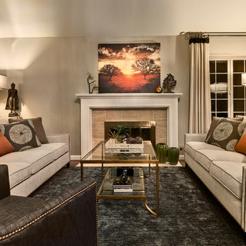 Living spaces - neutral and earthy with a pop of color