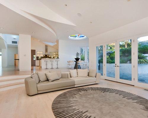 Split level living room home design ideas renovations for Split living room ideas
