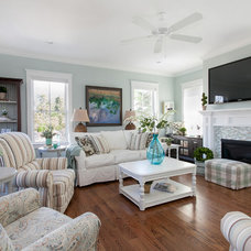 Beach Style Living Room by Patrick Brickman