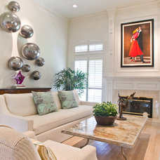 Transitional Living Room by RUDA Photography