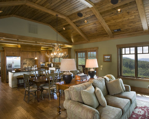 Houzz | Rustic High Ceiling Open Concept Design Ideas & Remodel
