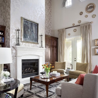 Living room - traditional living room idea in Austin