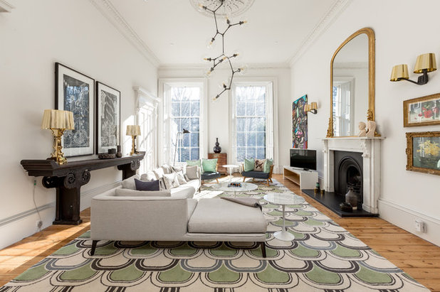 Eclectic Living Room by Chris Sutherland Photography