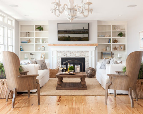 Pebble Fireplace | Houzz
