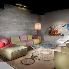 Industrial Living Room by Elad Gonen