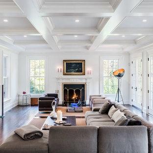 Inspiration for a modern living room remodel in Bridgeport