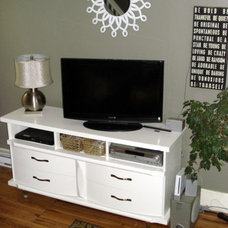 Eclectic Living Room Liviving Room - new tv console