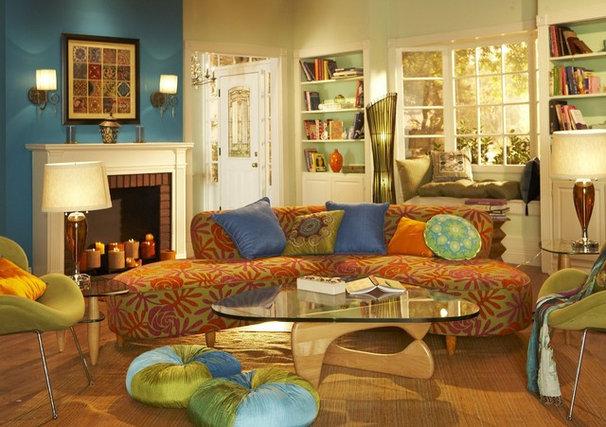 Contemporary Living Room by Liz Stewart