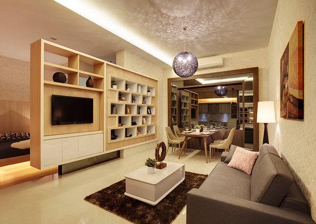 Modern Living Room by 3D Innovations Design Pte. Ltd.