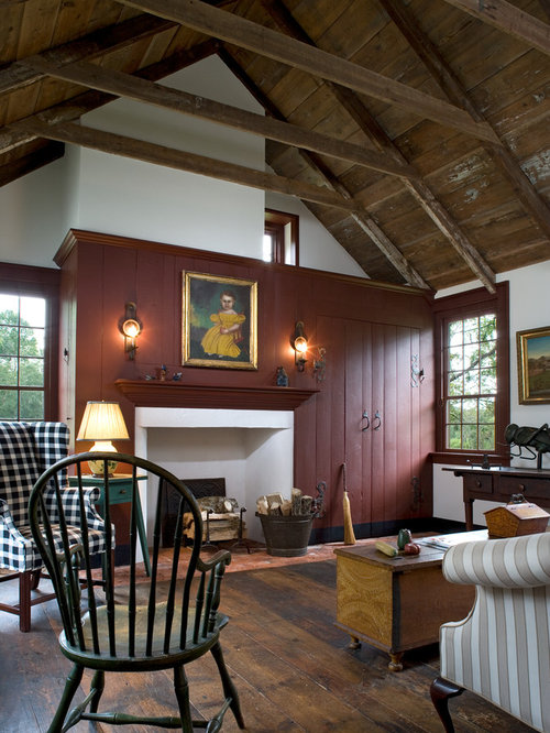 Exposed Antique Farmhouse Ceiling Home Design Ideas Pictures Remodel And Decor