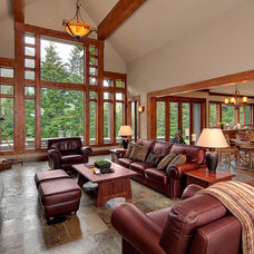 Traditional Living Room by Concept Builders, Inc.