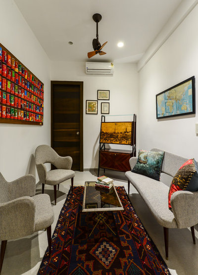 Eclectic Family Room by Aamir and Hameeda Associates