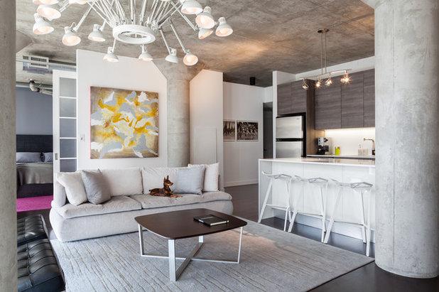 Modern Living Room by Rad Design Inc