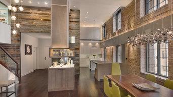 Loft Apartment using weathered Grey reclaimed panels