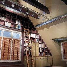 Contemporary Living Room by B R A D  J E N K I N S  I N C