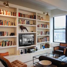 Modern Living Room by Hudson Cabinetry Design