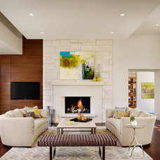 Contemporary Living Room by JEIDesign