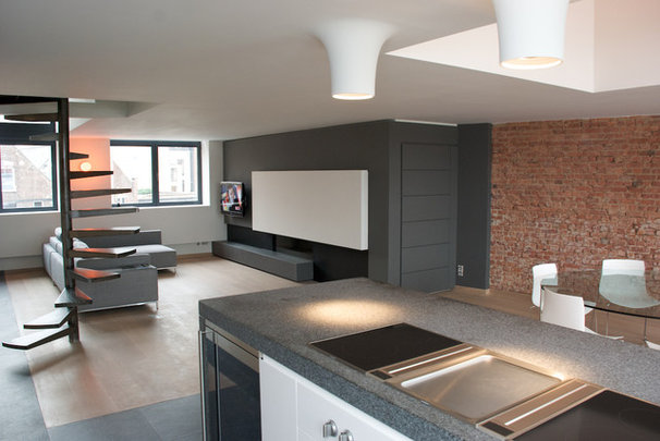 Contemporary Living Room by Intercub Interiors