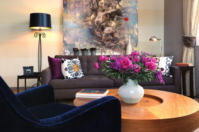 Contemporary Living Room by Faiella Design