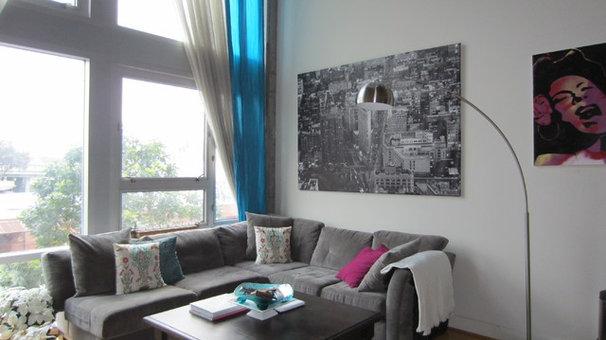 Contemporary Living Room Loft Living Room