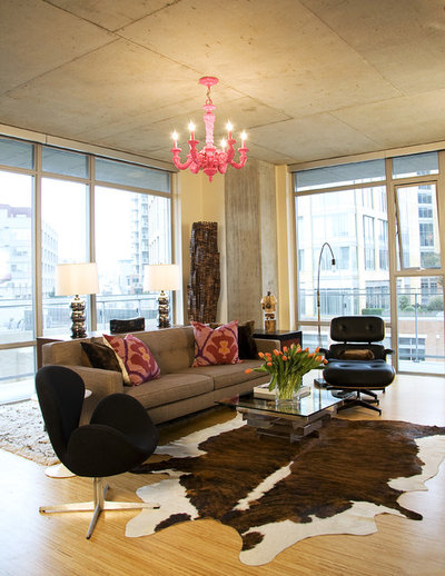 Industrial Living Room by Tewes Design