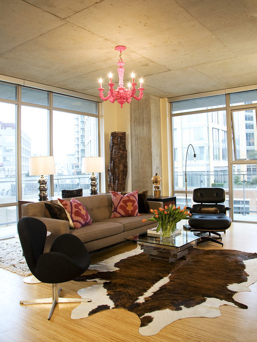 Cowhide Living Room Ideas Photos Houzz