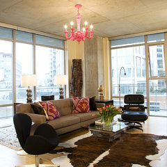 modern living room by Tewes Design