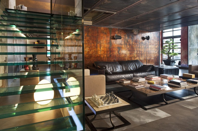 Industrial Living Room by Marco Dellatorre