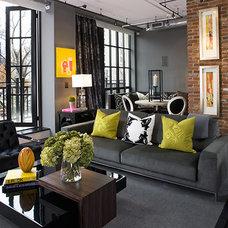 Modern Living Room by Leslie Rose / Jenkins Baer Associates