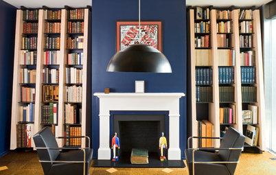 Houzz США: Дом коллекционера с тремя библиотеками и потайной дверью