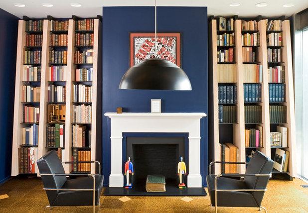 Contemporaneo Soggiorno by Reader & Swartz Architects, P.C.