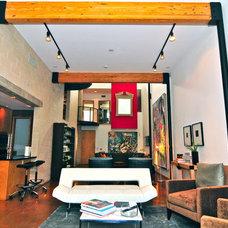 Contemporary Living Room by Valerie McCaskill Dickman