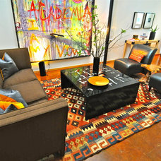 Contemporary Living Room by Valerie McCaskill Dickman