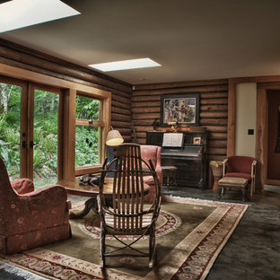 Example of a classic living room design in Vancouver