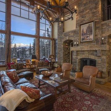 Log Home 134 Fireplace by Bercovitz Design