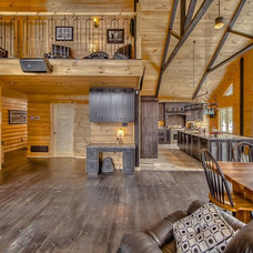 Rustic Living Room by Timber Block Homes