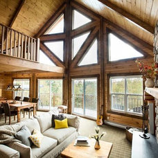 Traditional Living Room by Timber Block Homes