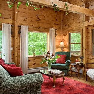 Inspiration for a living room remodel in Burlington