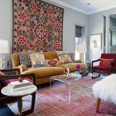 Transitional Living Room by BGDB Interior Design