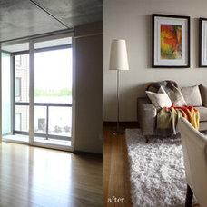 Contemporary Living Room by Luna Grey Interiors